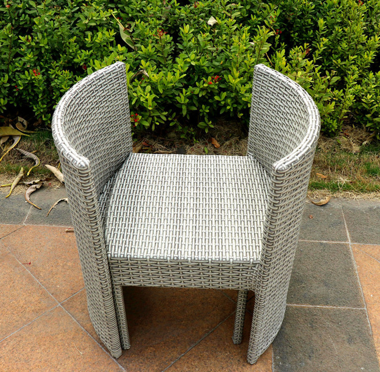 Лидер продаж, плетеная мебель из ротанга для пикника на открытом воздухе, садовый кофейный обеденный стол и Набор стульев