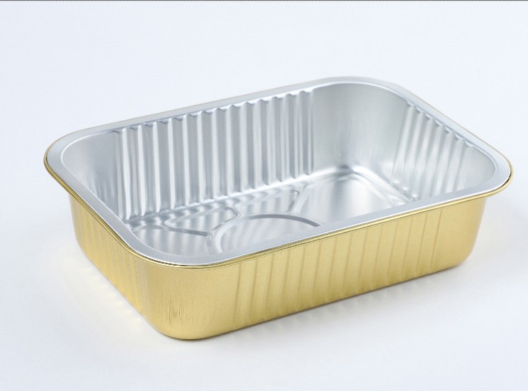 Good quality aluminum foil disposable take out fast food container/lunch box