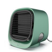 Портативный кондиционер Многофункциональный увлажнитель воздуха очиститель USB мини настольный воздушный кулер вентилятор с баком для вод...(Китай)