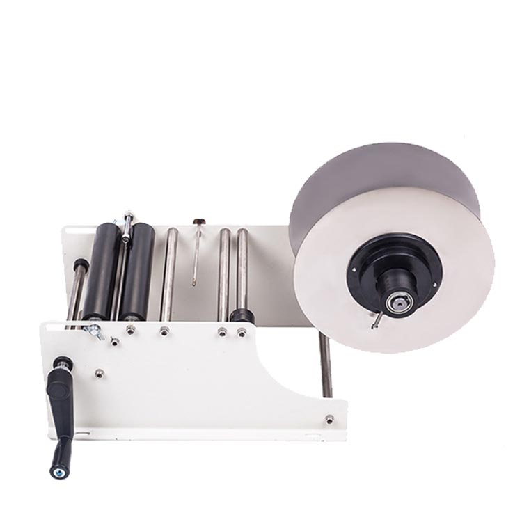 semi automatic type round bottle cold wet glue manual labeler paste labeling machine
