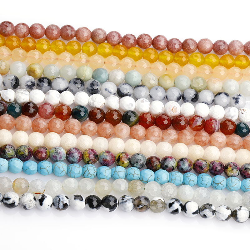 Manufacturer Natural Stone 4mm 6mm 8mm 10mm Round Agate Gemstone Energy Healing Stone Loose Beads For DIY Jewelry Making