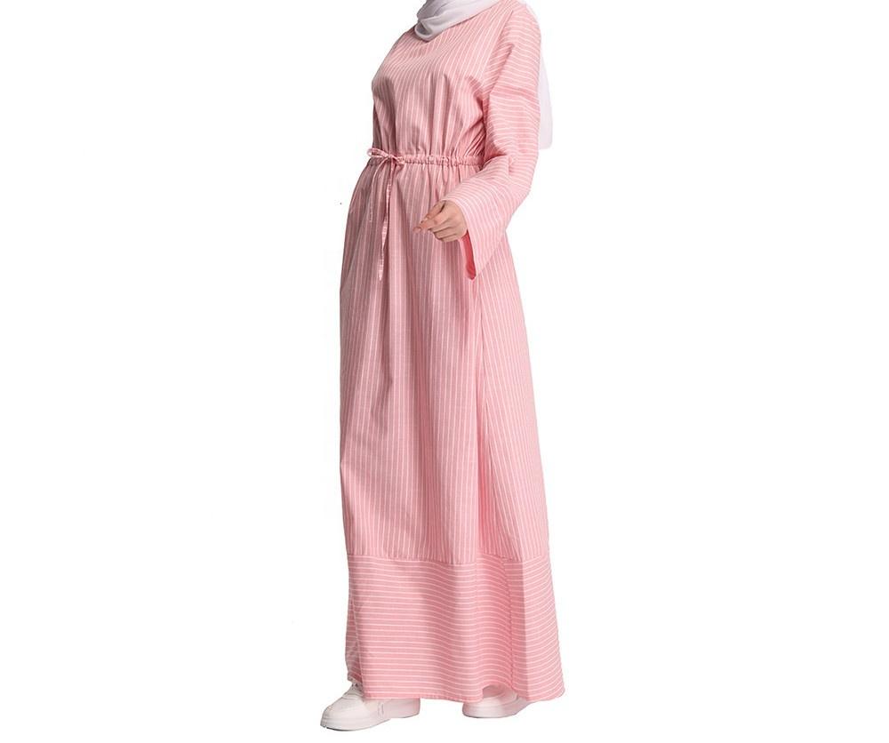 Wholesale Fashion Striped Summer Casual Pattern Long Dresses Popular For Muslim Abaya Islamic Women Clothing