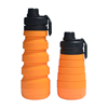Orange Silicone Water Bottle