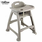 Child Chair Factory Direct Sell Food Grade PP Child Baby Food Eating Feeding Dining High Chair With Pulley