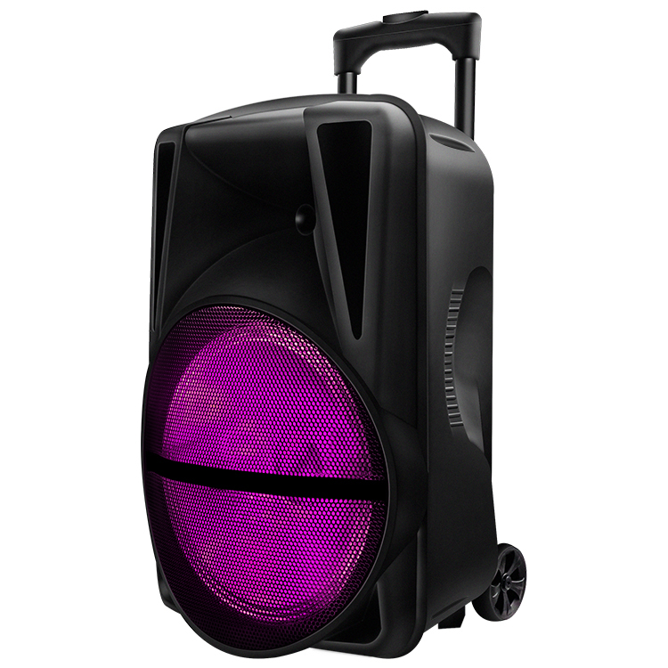 Ready To Ship Factory Ready Goods 12 Inch With Colorful Flame Light Dj Powered Party Speakers With Wholesale Price