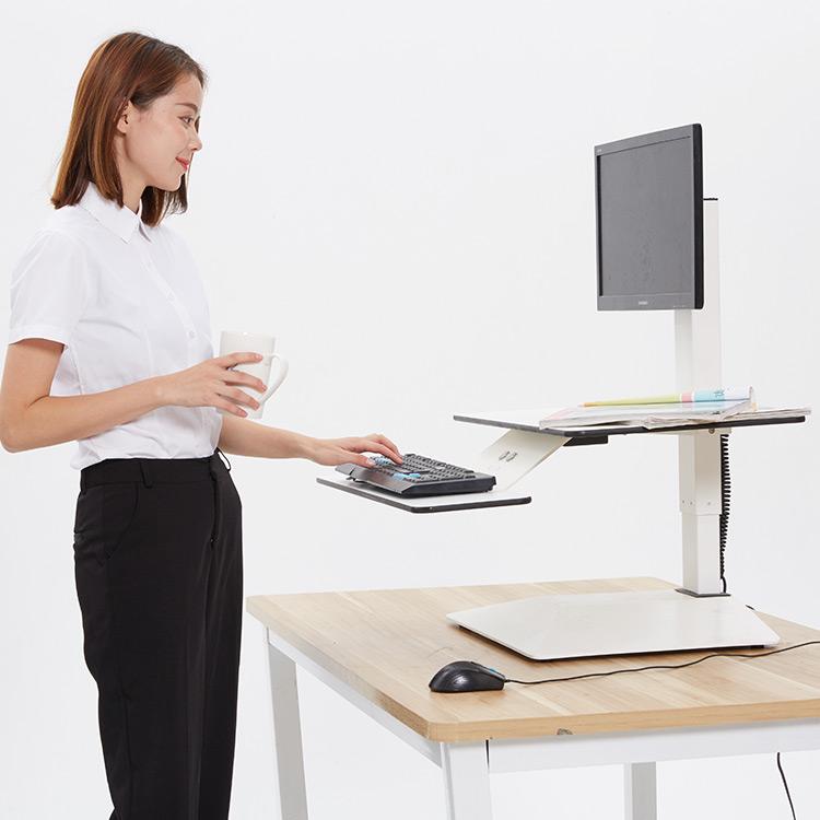 Электрический стоечный стол-для людей с плохими задними крышками-Настольный конвертер с регулируемой высотой