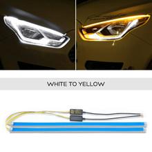 2x Светодиодная лента для фар Toyota Corolla Camry Sienna Venza Reiz Innova, дневные ходовые огни DRL, сигнальная лампа для поворота(Китай)