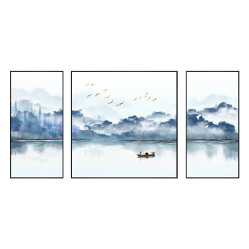Wholesale Landscape painting on canvas wall art 3 pieces framed painting cheap printing for home and hotel