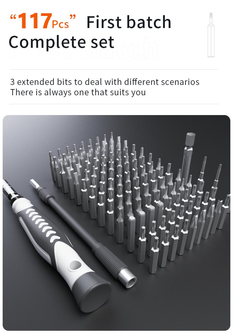 New 130 In 1 Screwdriver Repair Tool Set Screwdriver Bits Set Magnetic Electronics Tool Set
