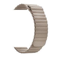 Megnetic кожаный ремешок для часов Apple Watch 4 2 3 44 мм 42 мм 38 мм ремешок из натуральной кожи Петля Браслет Петля черный для iwatch(Китай)