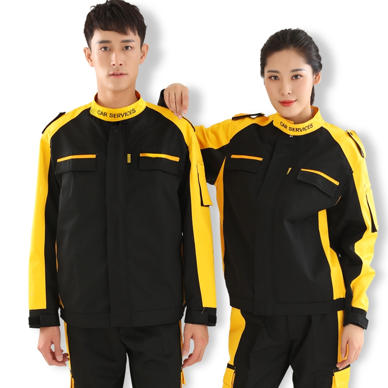 CUSTOMIZED BLUE WORKSHOP MAINTENANCE ANTI-STATIC PROTECTIVE WORK CLOTHES