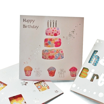 OEM Envelope Unique mini cards Designs Printing Die Cut Shape Packaging Paper Handmade Birthday Gift Card