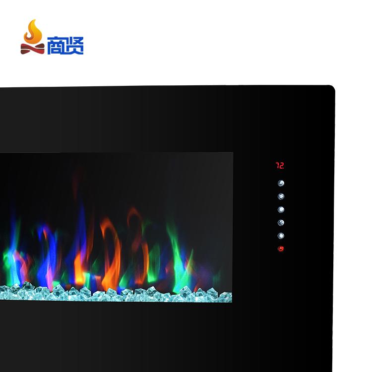 Современный 42 дюймов 7 цветов дистанционное управление зеркало электрический камин стены