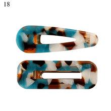 2 шт геометрические акриловые полимерные полые заколки для волос Леопардовый мраморный узор Заколки для женщин и девушек модные шпильки ак...(Китай)