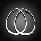 Hoop Earrings Fashion Simple Style Silver Plated Copper Jewellery Hoop Earrings For Women