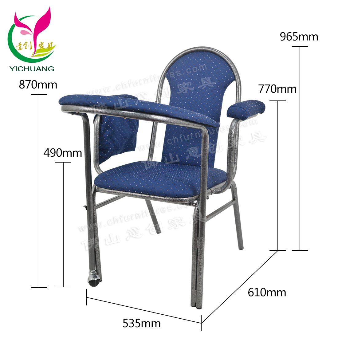 China factory supply modern stackable blue upholstery mosque steel worship chair for prayers