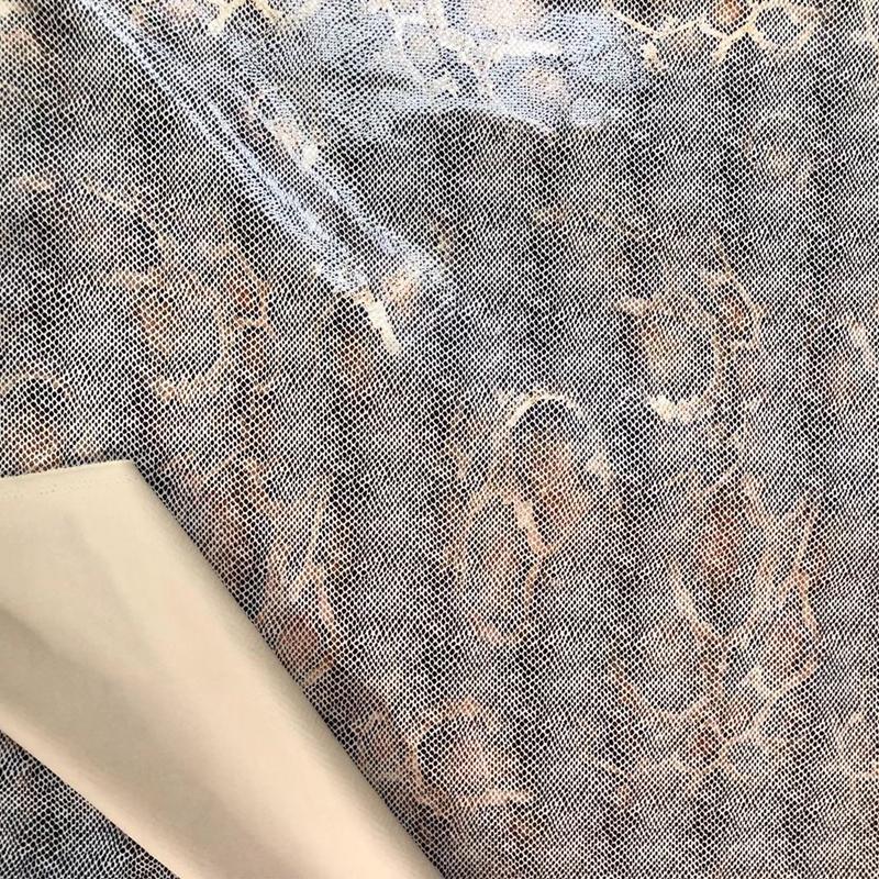 Новый дизайн, Змеиный узор, полиэстер, спандекс, ткань для подводного плавания, замша