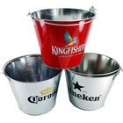 Metal Tin Bucket Metal Tin Bucket Promotional Galvanized Metal Tin Pail Bucket Ice Beer Tin Bucket With Handle
