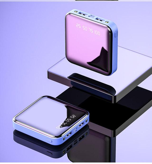 Mi ni power Bank, 30000 мА/ч, для iPhone 11, Xiaomi mi, power bank, Pover Bank, зарядное устройство, два порта Usb, внешняя батарея, повербанк, портативный(Китай)