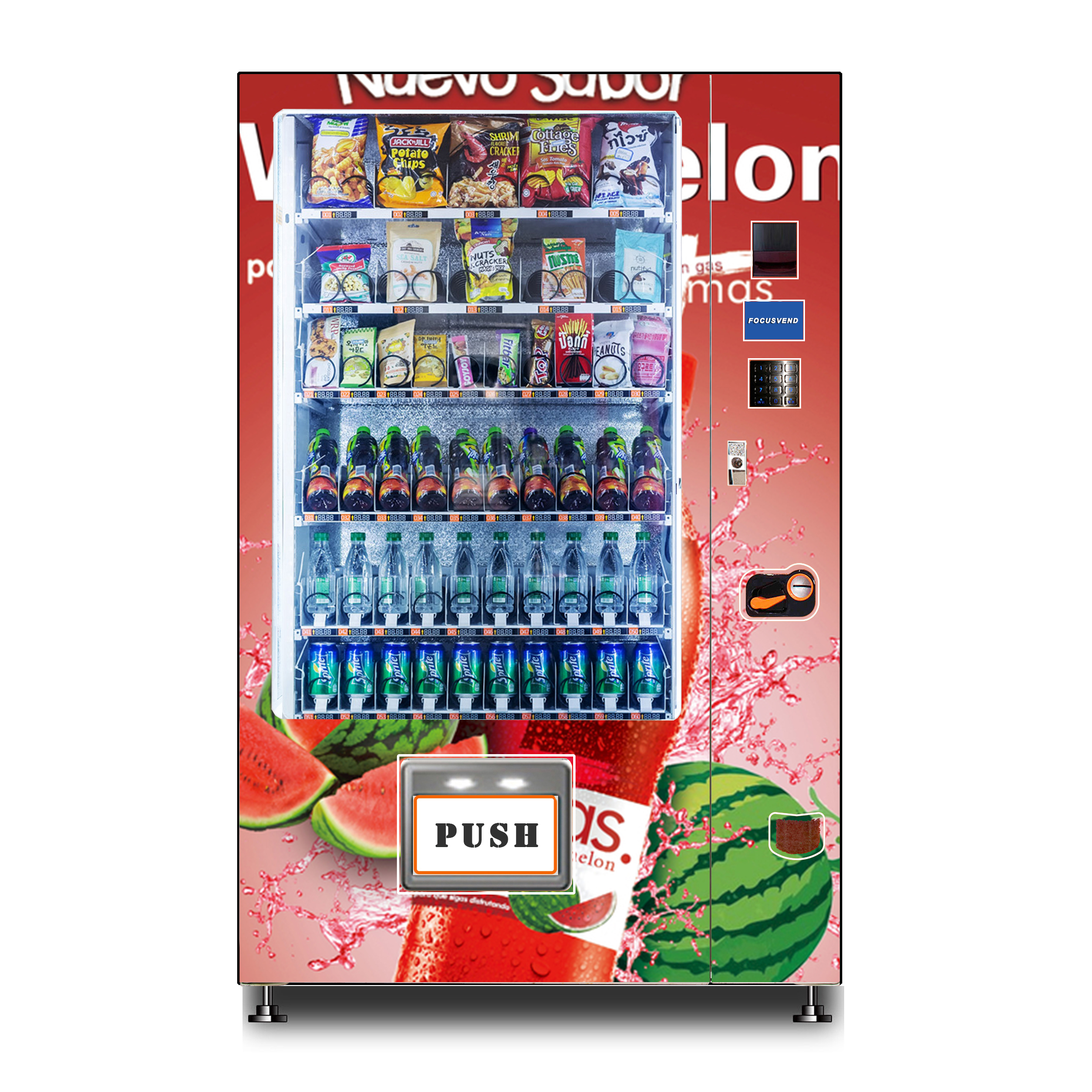 Best seller combination vending machine for cold drinks and food