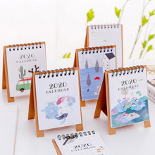 1 шт. новый год 2020 Лес Животные мини настольный бумажный календарь ежедневный планировщик стола(Китай)