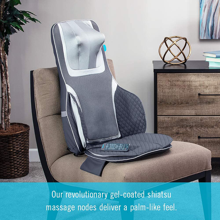 Deluxe shiatsu infrared Massage Cushion with Rolling massage / Air compression / Soothing heat