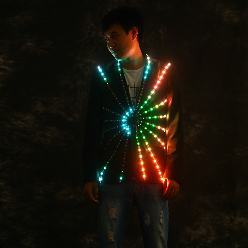 Bar Luminous clothes Creative spacesuit Atmosphere props Party Nightclub KTV led stage performance clothing