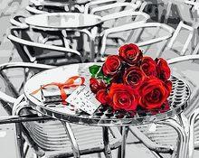AZQSD DIY Набор для рисования по номерам подсолнухи абстрактные современные настенные художественные картины цветы краски по номерам SZGD126(Китай)