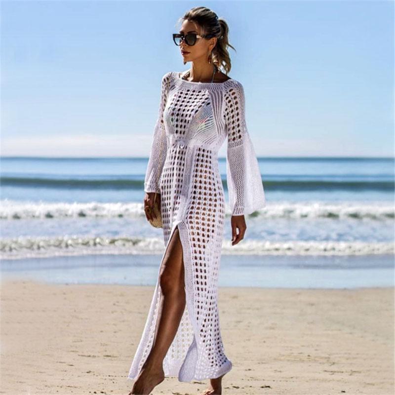 Knitting Swimwear Sexy Cover Up Beachwear Crochet, Swimsuit Bikinis Crochet Beachwear