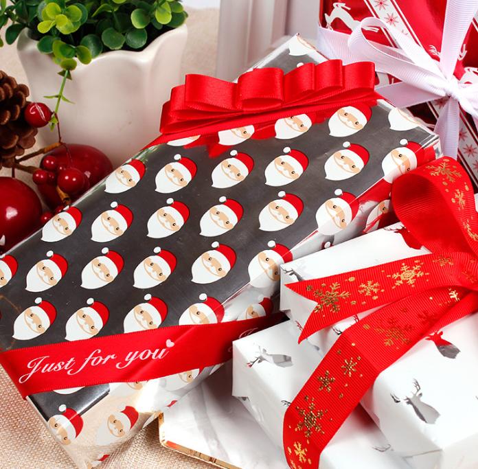 Фольгированная бумага для рождественских подарков в традиционном стиле 50x70 см