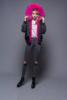 Black shell+hot pink fur
