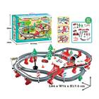 Toy Train Track Toy Train 87PCS Battery Operated Railway Passenger Car Toy Train Track For Kids With Sound And Light