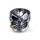 Titanium Ring Personalized Ring Personality Titanium Steel Skeleton Finger Punk Style Skull Ring