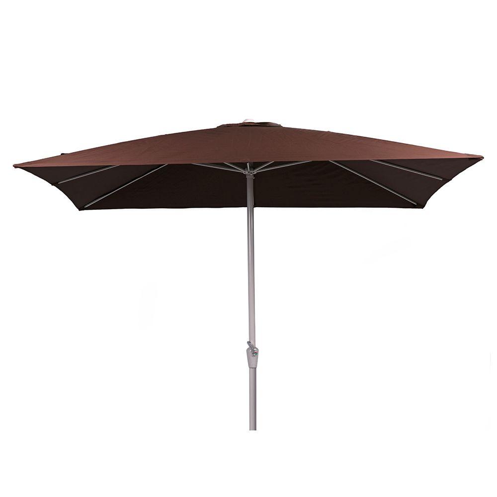 Outdoor Jardin Sun Square Rectangular Aluminum Garden Patio Umbrellas Parasol
