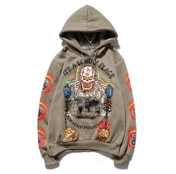 Men Kanye Ghost Skull Hip Hop Hoodies Sweater Fleeces Pullover