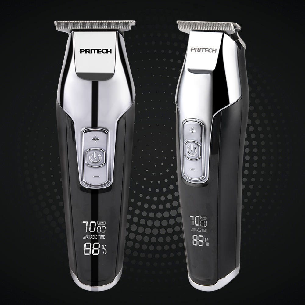PRITECH Large Capacity Battery Operated Electric Wireless Hair Trimmer Clippers