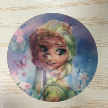 girl poster beautiful cartoon of 3d lenticular picture