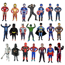 Vestiti dei bambini di Halloween di bellezza squadra bat spiderman boy kid tuta anime cosplay costume