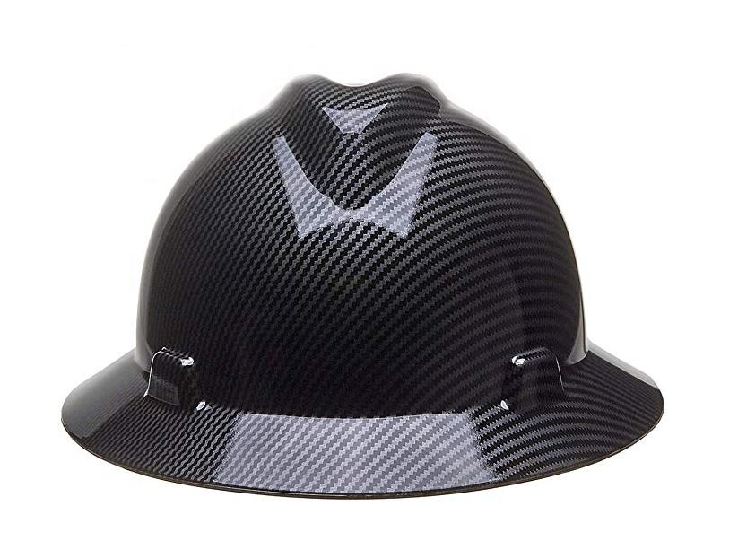 China supplier ansi full brim carbon fiber safety hat