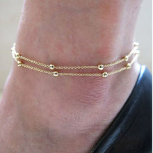 Простые Женские ножные браслеты повседневные/спортивные золотые серебряные цветные цепи женский ювелирный браслет на лодыжку(Китай)