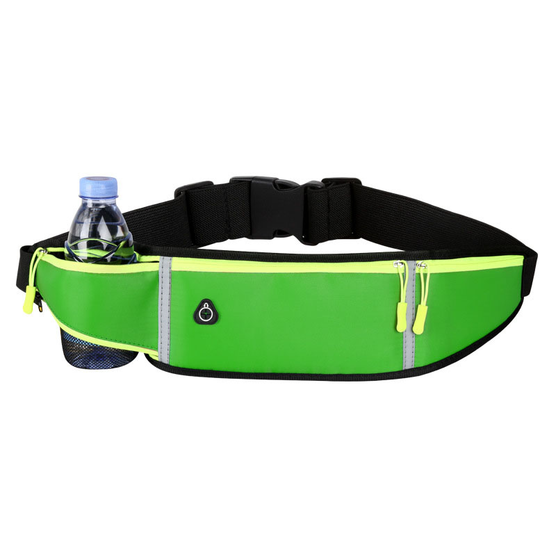 Fashion gym sports reflective running belt Waist Bag Outdoor Sport Men And Women Water Bottle Fanny Pack