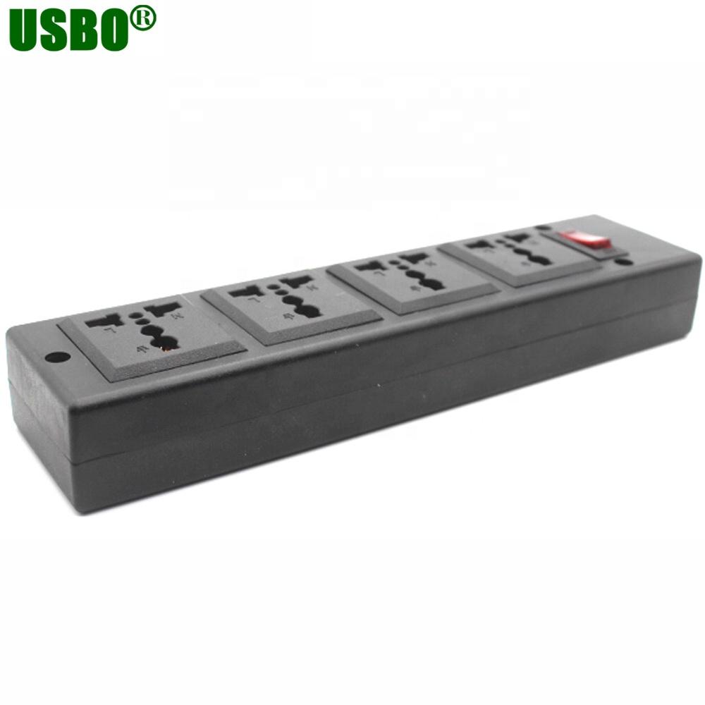 New AU US UK EU Multifunction Extension AC Socket 250V 13A 4 Jacks Outlet IEC320 C13 C14 Universal PDU Outlet Power Strip