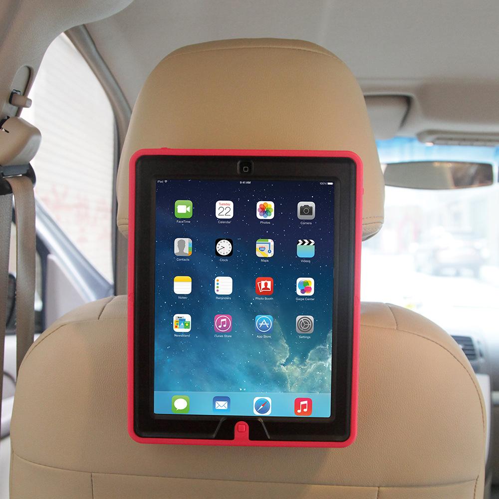 Shockproof Kids Car Holder Tablet Case For Ipad Mini 1 2 3 With Shoulder Strap
