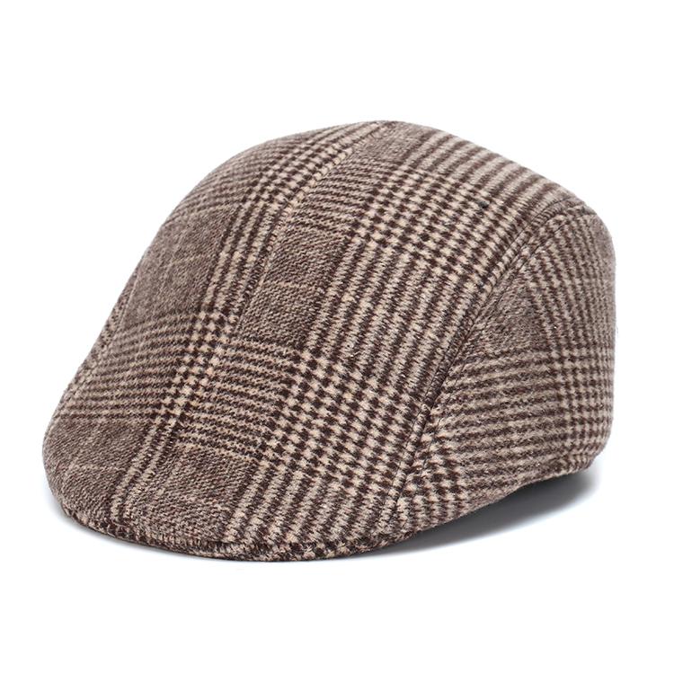 Cabbie Homme Outdoor Flat Caps For Men Hat Unisex British Style Classic Plaid Woolen French Beret Denim Cap Women Hats Berets