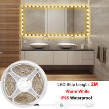 Косметический зеркальный светильник, Светодиодная лента, USB кабель, 5 В, затемненный туалетный столик, лампа, лента для ванной, косметический...(Китай)