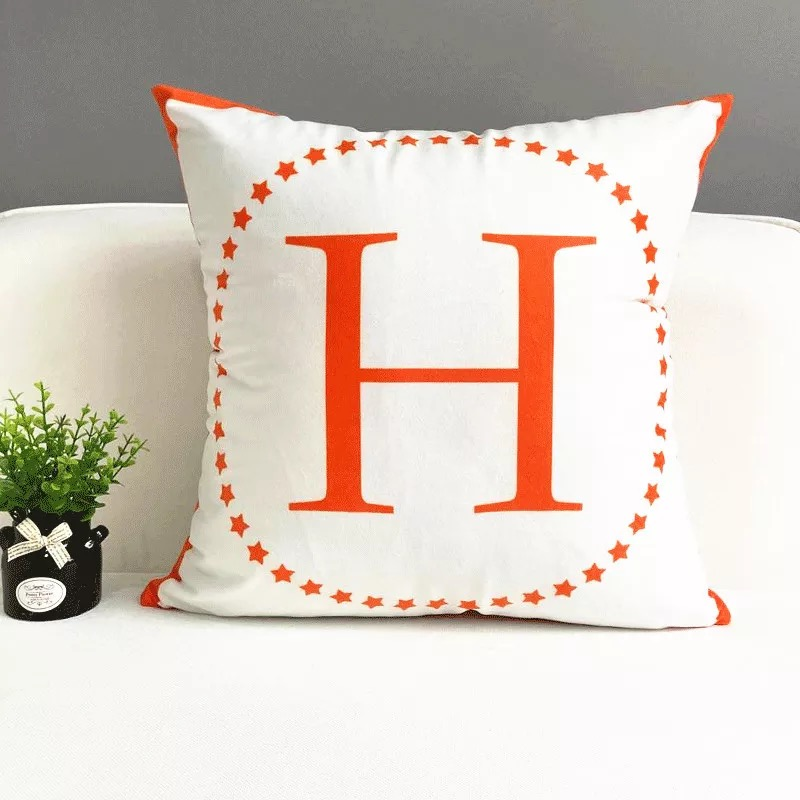 Alphabet Letters Cotton Cushion Cover Pillow Case Throw Personalized Home HOT!