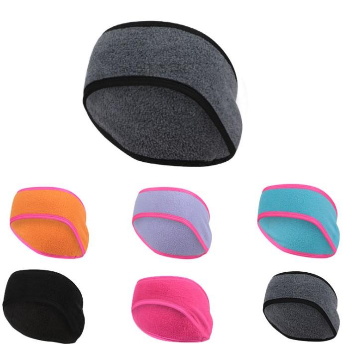 Fleece Ear Cover Running Headband Ponytail Headband Winter Sweatband Ear Warmer