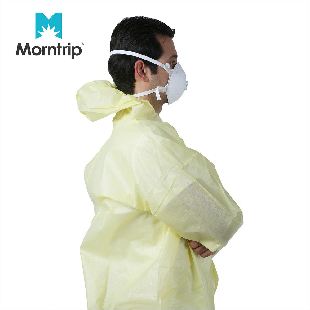 Isolation Non Woven Protective Breathable Tyoe 5 6 Industrial CE Approved Laminated Hooded Disposable Coverall Microporous