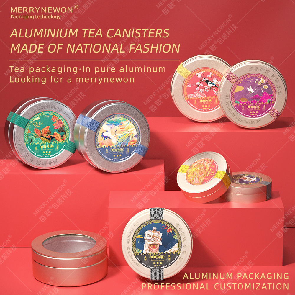 Metal Jar Light luxury and classic Different Sizes Tea Soap Customized Printing Solid Iron Cans