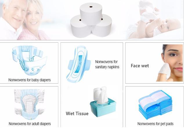 Não tecido hidrofílico de fábrica de boa qualidade com baixo preço para fraldas de bebê